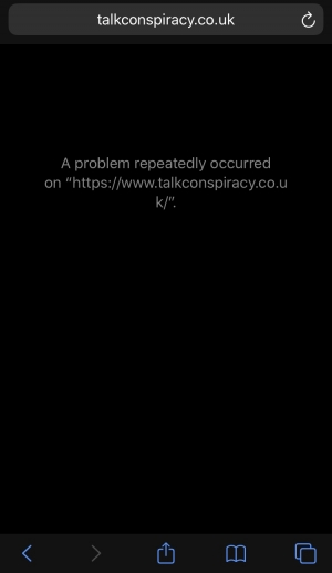 Ed I'm having problems accessing your webpage. Every other one of your sites work apart from talkconspiracy which crashes half way through loading, since yesterday.
