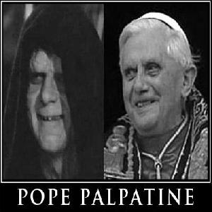 Pope ratzinger looks like Emperor Palpatine from Star Wars