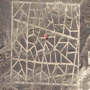 Google Map image of mysterious lines in the Gobi desert